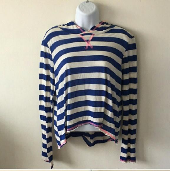 2aa61c25c dELiA*s Tops | Delias Hi Lo Striped Hooded Top | Poshmark